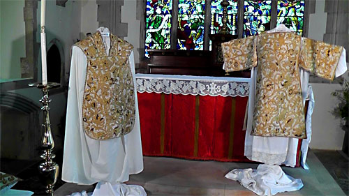 The Exhibition of Vestments in St Mary's