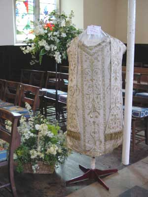 Vestments on show in May 2003